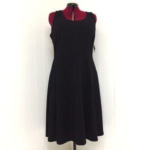 2XL OLD NAVY Black Stretch Skater Tank Dress NWT